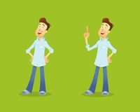 Cartoon illustration business manager character Royalty Free Stock Photo