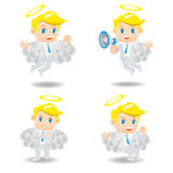 Cartoon illustration Businessman positive thinking Stock Photos