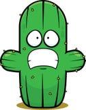 Cartoon Cactus Scared vector illustration