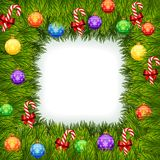 Cartoon Illustration of Christmas ornaments Royalty Free Stock Photo