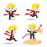 Cartoon illustration competitive Business man Royalty Free Stock Image