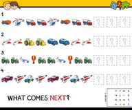 Complete the pattern with vehicles game Stock Photo