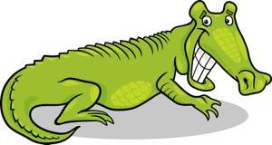Cartoon illustration of crocodile Royalty Free Stock Photo