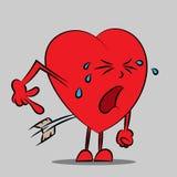 Crying heart comic illustration royalty free illustration