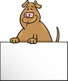 Cartoon dog with board or card design Royalty Free Stock Images