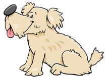 Dog or puppy cartoon comic character Stock Images