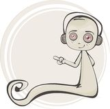 Cartoon illustration of a cute ghost Royalty Free Stock Image