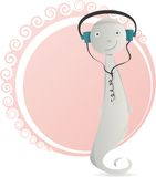 Cartoon illustration of a cute ghost Royalty Free Stock Photos