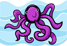 Cartoon illustration of cute octopus Stock Photo