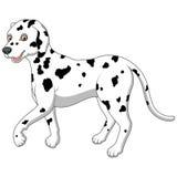 Cartoon illustration of a Dalmatian walking Stock Photo