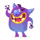 Cartoon illustration of a devil with a happy expression. Halloween vector monster. Stock Photos