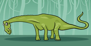 Cartoon illustration of diplodocus dinosaur Royalty Free Stock Images