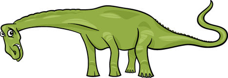 Cartoon illustration of diplodocus dinosaur Stock Photo