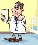 Cartoon illustration of doctor in hospital Stock Image