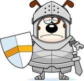 Sad Cartoon Dog Knight. A cartoon illustration of a dog knight looking sad Royalty Free Stock Image