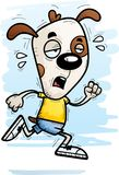 Exhausted Cartoon Dog. A cartoon illustration of a dog running and looking exhausted Royalty Free Stock Images