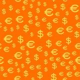 Cartoon illustration of dollar currency symbol vector pattern. Cartoon illustration of dollar currency symbol vector pattern bank finance business seamless Stock Photography
