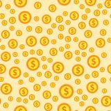 Cartoon illustration of dollar currency symbol vector pattern bank finance business seamless money background. Wrapping financial economy gold sign Stock Image