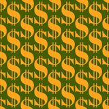 Cartoon illustration of dollar currency symbol vector pattern. Bank finance business seamless money background. Wrapping financial economy gold sign Royalty Free Stock Image