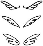 Cartoon illustration doodle of angel or fairy wings icon sketch Royalty Free Stock Photo
