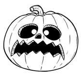 Cartoon Illustration or Drawing of Crazy Halloween Pumpkin stock photo