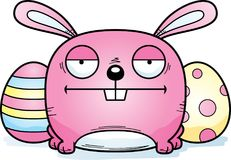 Calm Cartoon Easter Bunny. A cartoon illustration of the Easter Bunny looking calm Royalty Free Stock Photography