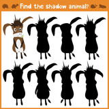 Cartoon  illustration of education will find appropriate shadow silhouette animal the donkey. Matching game for children of Royalty Free Stock Photos