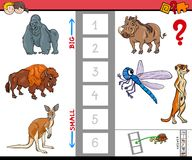 Biggest and smallest animal cartoon game Stock Photo