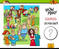 How many couples educational game Stock Photography