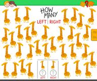 Counting left and right pictures of giraffe royalty free stock image