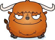 Evil Cartoon Yak. A cartoon illustration of an evil looking yak Stock Images