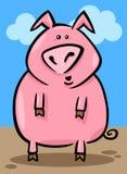 Cartoon illustration of farm pig Stock Photography