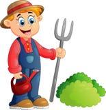 Cartoon illustration of a farmer Stock Images