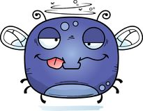 Drunk Little Fly. A cartoon illustration of a fly looking drunk royalty free illustration