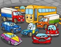 Car vehicles cartoon characters group stock illustration
