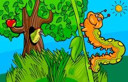 Caterpillar insect cartoon character. Cartoon Illustration of Funny Caterpillar Insect Character Stock Photography