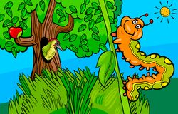 Caterpillar insect cartoon character Stock Photography