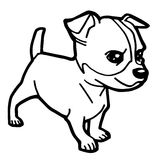 Cartoon Illustration of Funny Dog for Coloring Book Stock Image