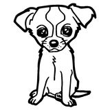 Cartoon Illustration of Funny Dog for Coloring Book Royalty Free Stock Images