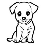 Cartoon Illustration of Funny Dog for Coloring Book Stock Images