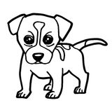 Cartoon Illustration of Funny Dog for Coloring Book Royalty Free Stock Image