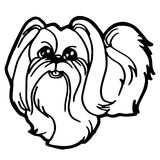 Cartoon Illustration of Funny Dog for Coloring Book Royalty Free Stock Photos