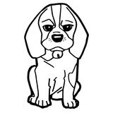 Cartoon Illustration of Funny Dog for Coloring Book Royalty Free Stock Photo