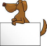 Cartoon dog with board or card design Stock Photo