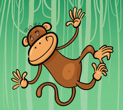 Cartoon illustration of funny monkey Stock Photos