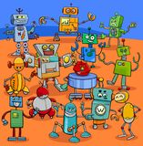Cartoon robot characters big pack. Cartoon Illustration of Funny Robots Fantasy Characters Big Pack Stock Photography