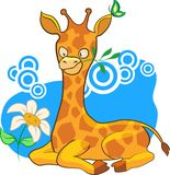 Cartoon illustration giraffe  Stock Image