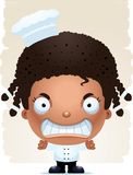 Angry Cartoon Girl Chef. A cartoon illustration of a girl chef with an angry expression Vector Illustration