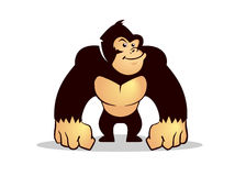Cartoon gorilla Stock Photography
