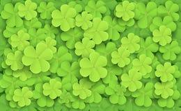 Cartoon illustration of Green fresh clovers. Illustration of Green fresh clovers Stock Photo